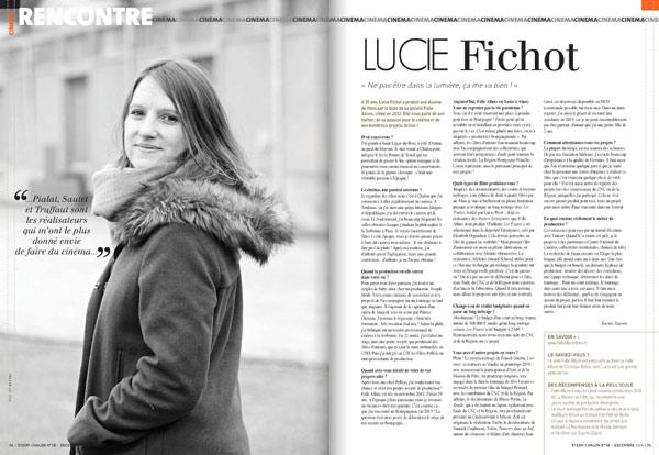Lucie Fichot / interview / STEMP MAGAZINE N°18